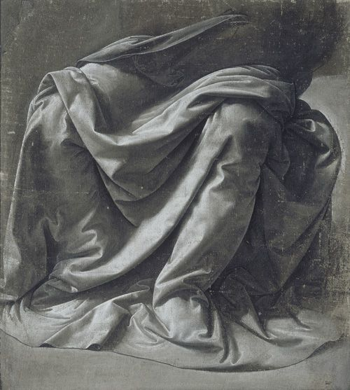 Drapery study for a seated figure