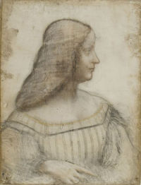 Portrait drawing of Isabella d'Este