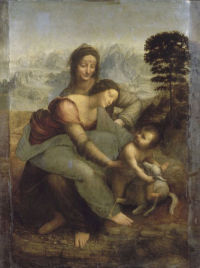Madonna, Child, St Anne and a Lamb