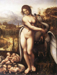Leda and the Swan (copy after Leonardo)